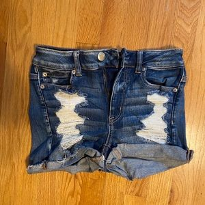 American eagle youth/teen girl jean shorts